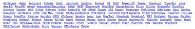 Servo Databaseリスト
