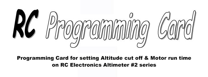 RC Programing Card
