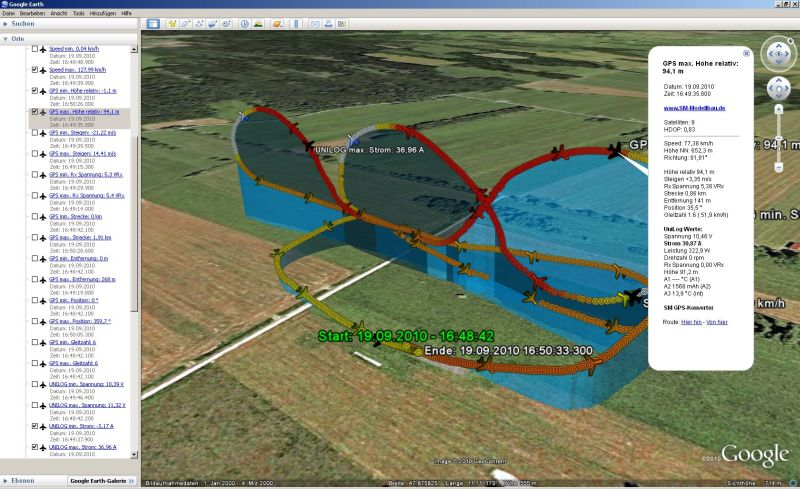 2010-09-19 SM GPS Logdatei 0026 Extra 300, Kuban Acht, mit UniLog Daten 800x489